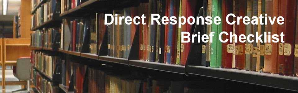 Direct response creative brief checklist
