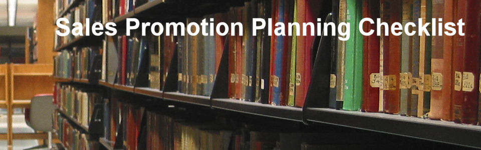 DWS Associates - Sales Promotion Planning Checklist