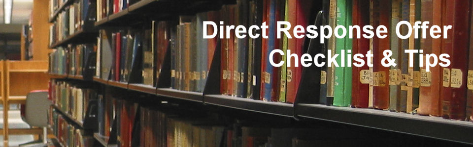 DWS Associates Direct Response Marketing Offer Checklist & Tips