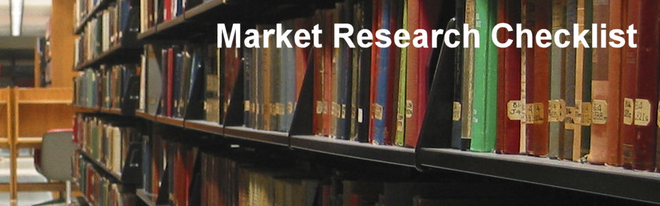 DWS Associates - Market Research Checklist