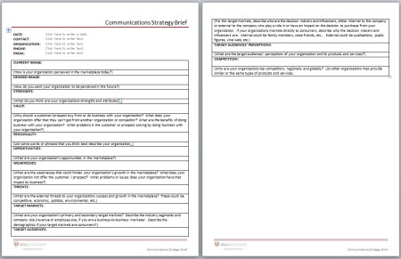 Dws associates communications strategy brief template click here to buy tools for 999 ea maxwellsz